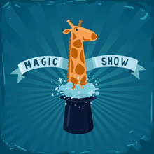 Magic Show Poster. Giraffe Lea...