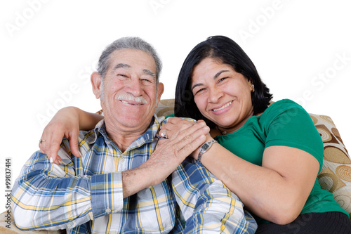 Fotografie, Obraz  Happy Mexican senior with smiling daughter