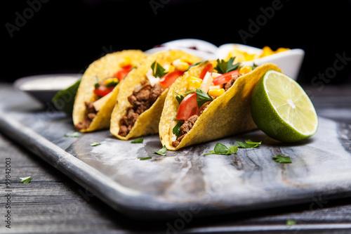 Photo  Delicious beef tacos