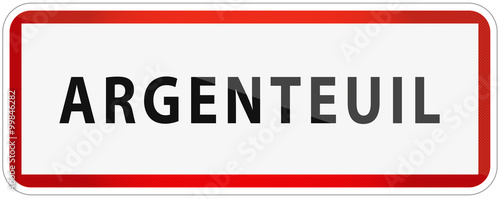 Photo City of Argenteuil Traffic Sign in France Illustration