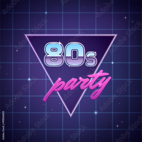 Fotografia  Eighties Party Background