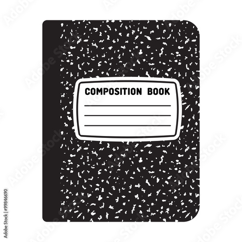 Fotografie, Obraz  Composition notebook illustration