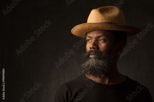Canvas Black African American man portrait