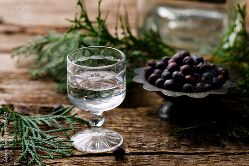 gin in a glass shot glass