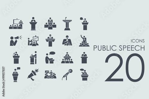 Cuadros en Lienzo  Set of public speech icons
