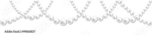 Obraz na plátne Pearl necklace isolated