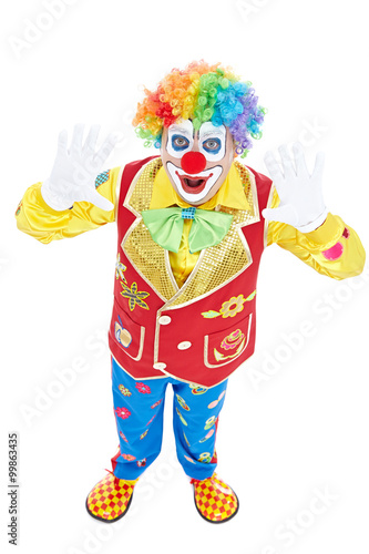 Foto op Canvas Piraten Portrait of a clown isolated on white background
