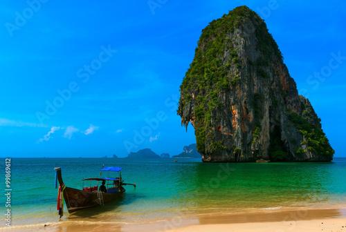 Traveling to Thailand tourist landscape background