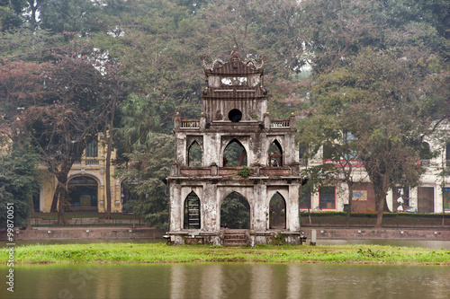 Foto  Beautiful ancient architecture in Vietnam, Hanoi