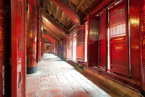 Staande foto Nepal Ancient architecture in Temple of Literature in Vietnam, Hanoi
