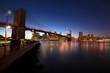Brooklyn bridge at night - tilt and shift effect