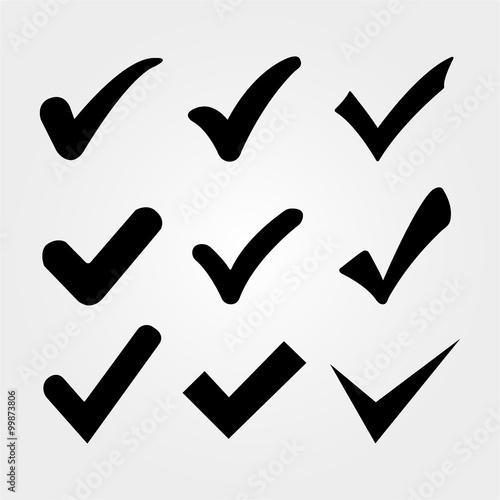 Fotografie, Obraz  Vector confirm icons set, Check mark