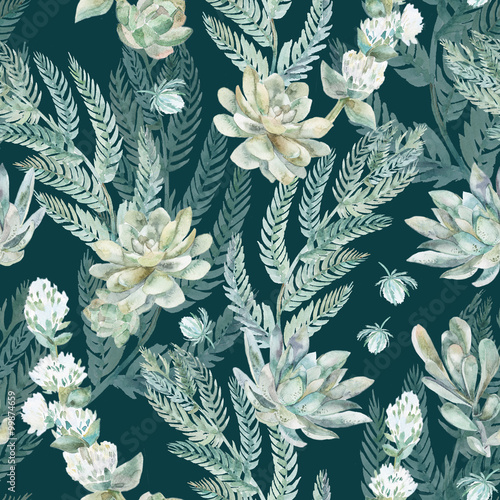 Cotton fabric Floral seamless pattern. s