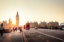 Westminster Bridge At Sunset, ...