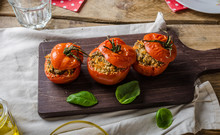 Baked Tomatoes Stuffed With He...