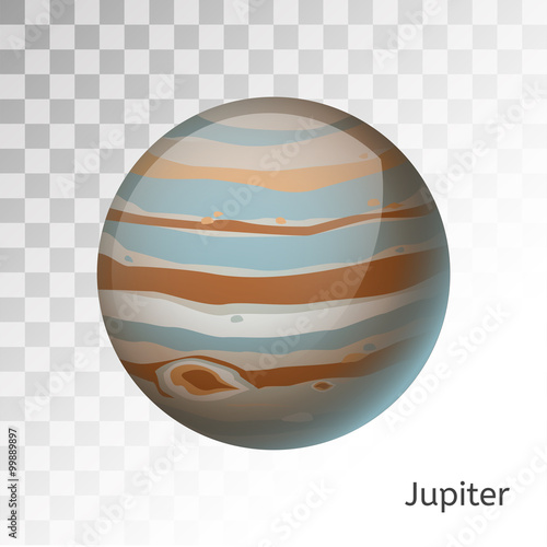 Fotografie, Obraz  Jupiter planet 3d vector illustration