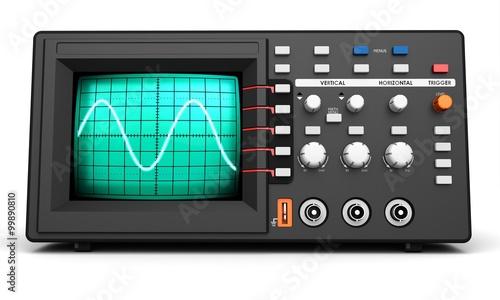 Fotografie, Obraz  3d modern device oscilloscope