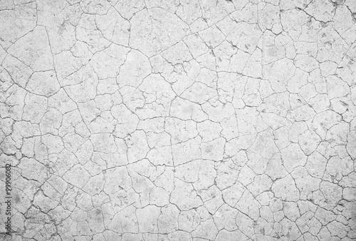 Fotografía  Blanco y negro de fondo de cemento agrietado