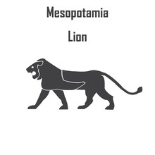 Lion On A Babylonian