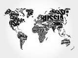 World Map in Typography word cloud concept, names of countries - 99908253