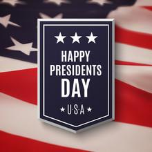 Happy Presidents Day Background.