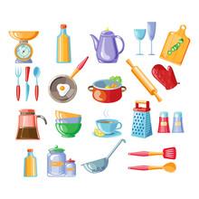 Kitchen Tools Vector Illustrat...