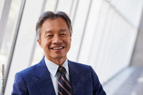 Carta da parati Portrait Of Asian Businessman In Modern Office