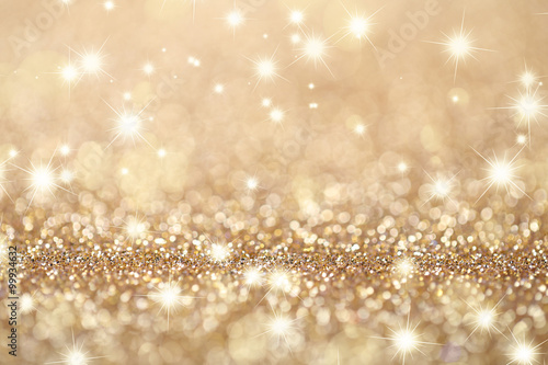 Abstract Golden Twinkled Background Poster Mural XXL