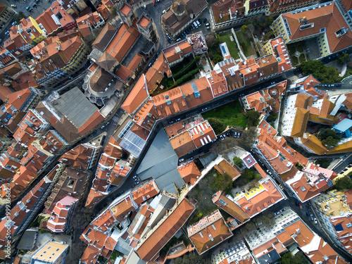 Foto op Plexiglas Barcelona Top View of Rooftops, Lisbon, Portugal
