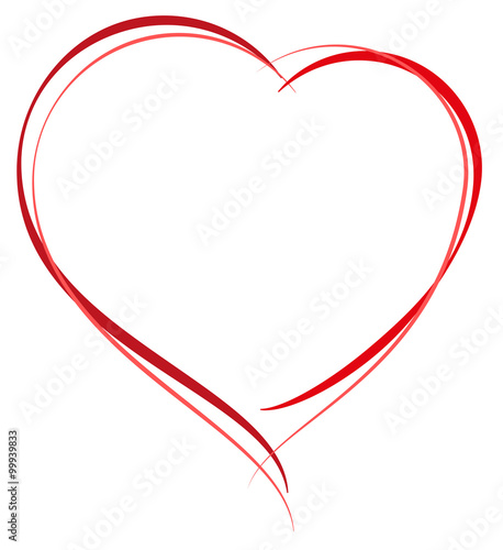 Heart Shape Symbol Of Love Heart For Greeting Card Valentines Day