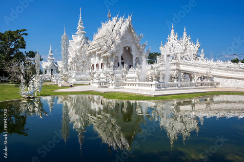 The White Temple, or Wat Rong Khun, in Chiang Rai, Thailand.
