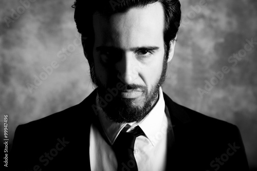 Photo  Man on black