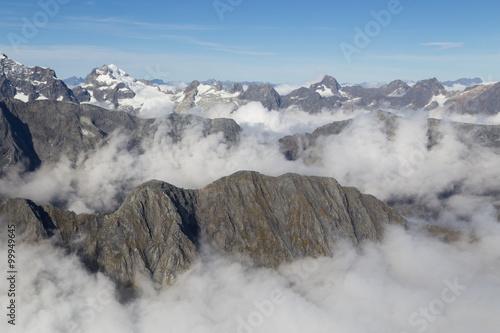 Fotografia  Aerial view Mount Aspiring National Park