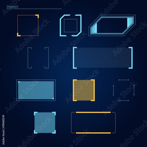 Fotografía  Elements for HUD interface