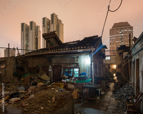 Photo  Shanghai Xiaonanmen old town under redevelopment