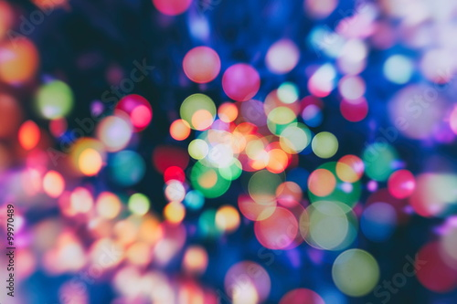 Photo Stands Eggplant Colorful circles of light abstract background
