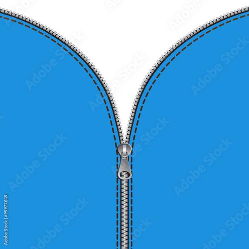 Fototapety, obrazy: Sfondo cerniera zip verticale
