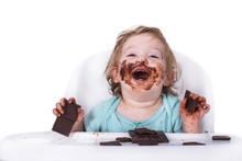 Adorable Kid Eating Chocolate ...