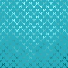 Teal Blue Aqua Turquoise Butterflies Polka Dot Metallic Faux Foi
