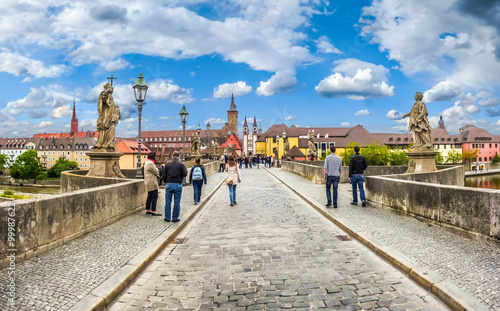 Fotografia, Obraz  Alte Mainbrucke in the historic city of Würzburg, Bavaria, Germany