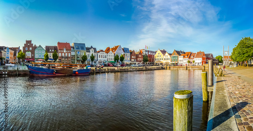 Canvas Prints North Sea Town of Husum, Nordfriesland, Schleswig-Holstein, Germany