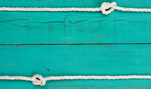 Blank Wood Sign With Knotted Rope Border