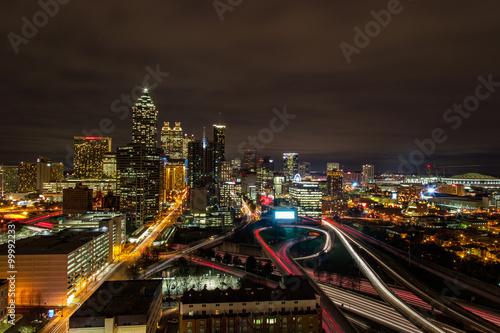 Zdjęcie XXL Atlanta w nocy