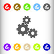 Transmission, settings sign icon, vector illustration. Flat desi