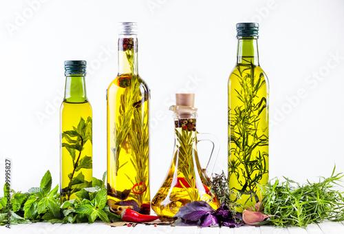 Fototapeta Homemade oil with herbs obraz