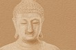 Leinwandbild Motiv art grunge buddha statue texture illustration background