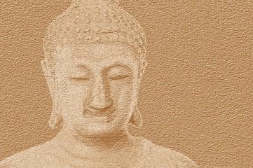 art grunge buddha statue texture illustration background