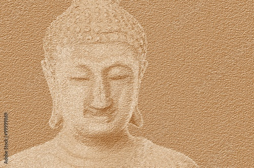 Obraz art grunge buddha statue texture illustration background - fototapety do salonu
