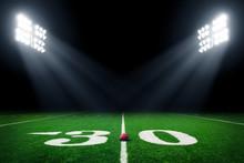 Football Field Illuminated By ...