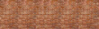 Leinwanddruck Bild - Vintage red brick wall texture